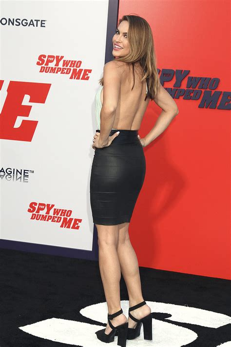 Chrishell Stause attends The Spy Who Dumped Me film