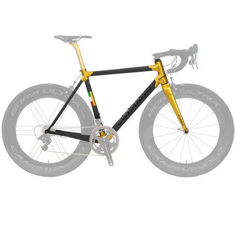Colnago Limited Edition Dual Routed C60 Frameset Gold Raw