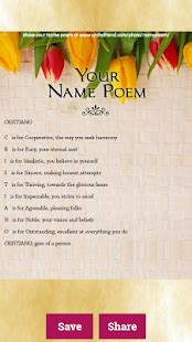 Name Meaning Generator – Free Poem Maker - Android Apps on