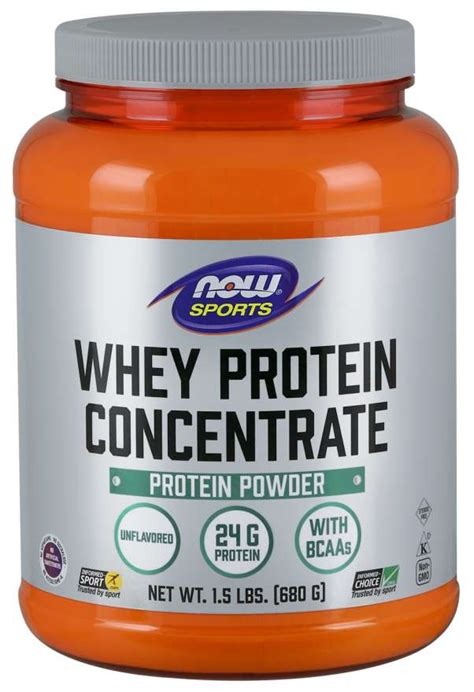 Whey Protein Concentrate, Unflavored Powder | NOW Foods