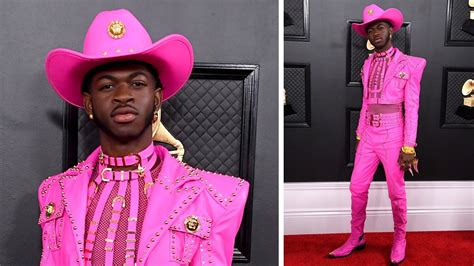 GRAMMYs 2020: Lil Nas X Arrives in Hot Pink Harness