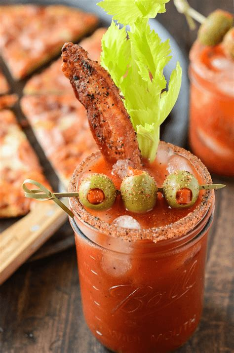 Spicy Bacon Bloody Mary | The Novice Chef
