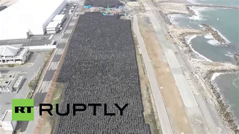 Japan: Drone captures TONNES of nuclear waste being stored