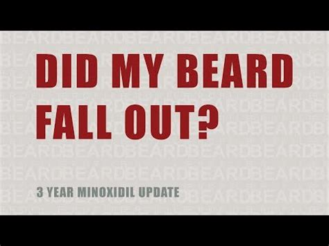 3 Years After Minoxidil — Did My Beard Fall Out? video by